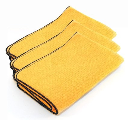 3-pack of Guzzler waffle weave microfiber drying towels by Cobra. ($40)