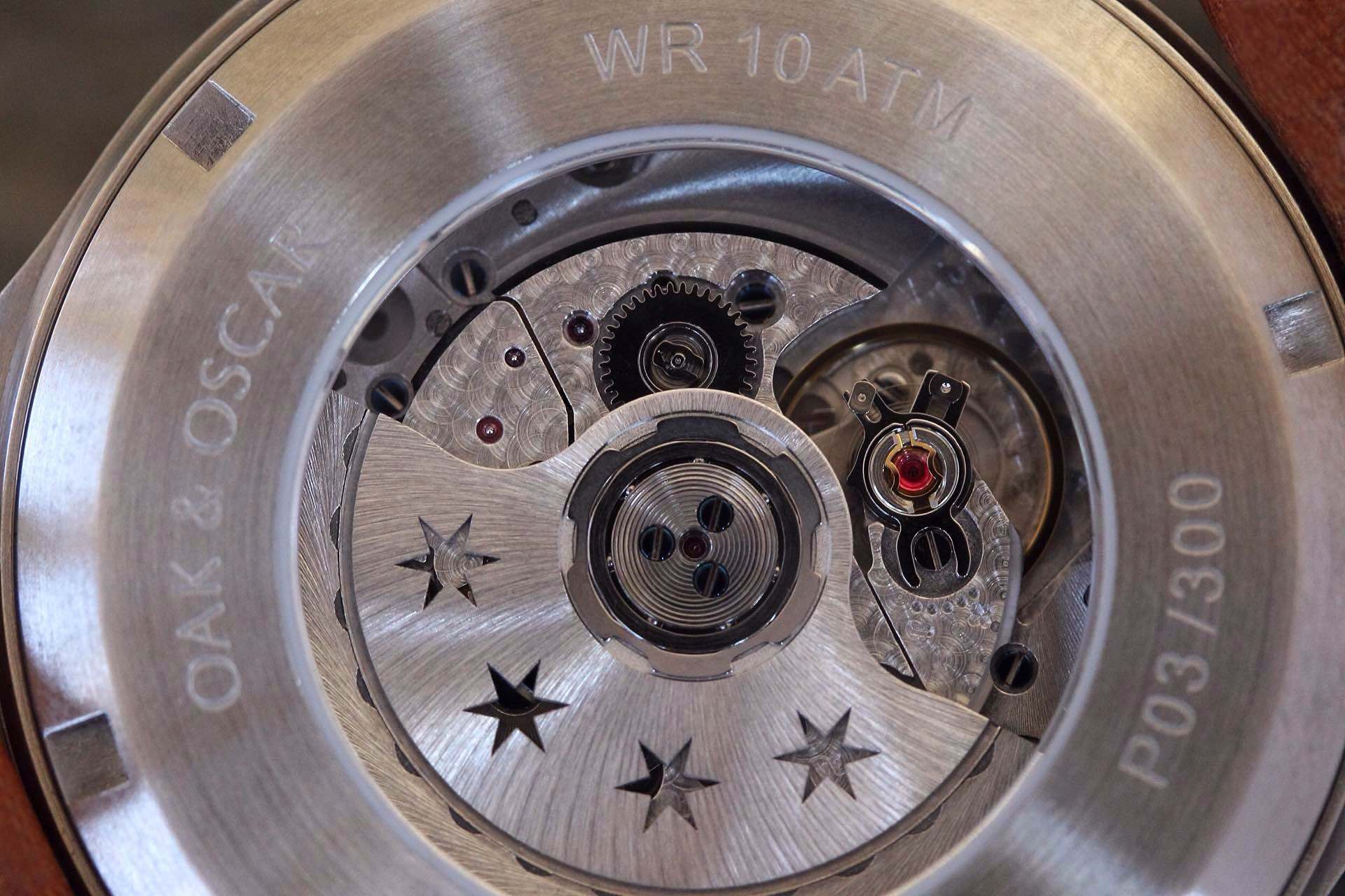 The customized Soprod A10 movement.