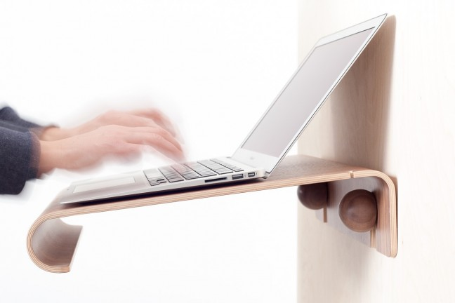 Nordic Appeal MacBook Wall Desk. ($220)