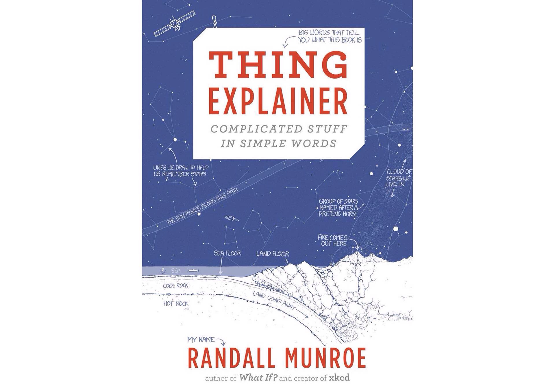 Thing Explainer by Randall Munroe. (Releases November 24th, 2015.)