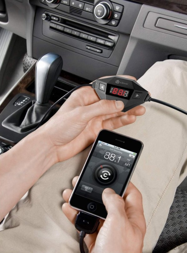 While not ideal, [iClever](http://www.amazon.com/Universal-Transmitter-Smartphone-including-IC-F27/dp/B00HIATW04/?tag=toolsandtoys-20) is probably the best FM transmitter on the market.