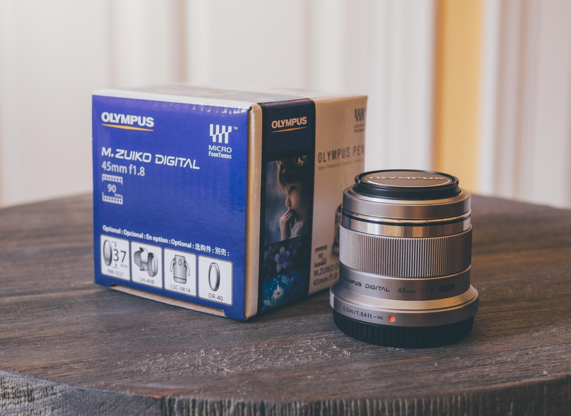 Olympus 45mm f1.8 Lens