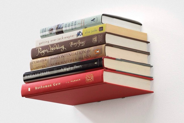 Umbra Conceal floating bookshelf. ($15-$18)