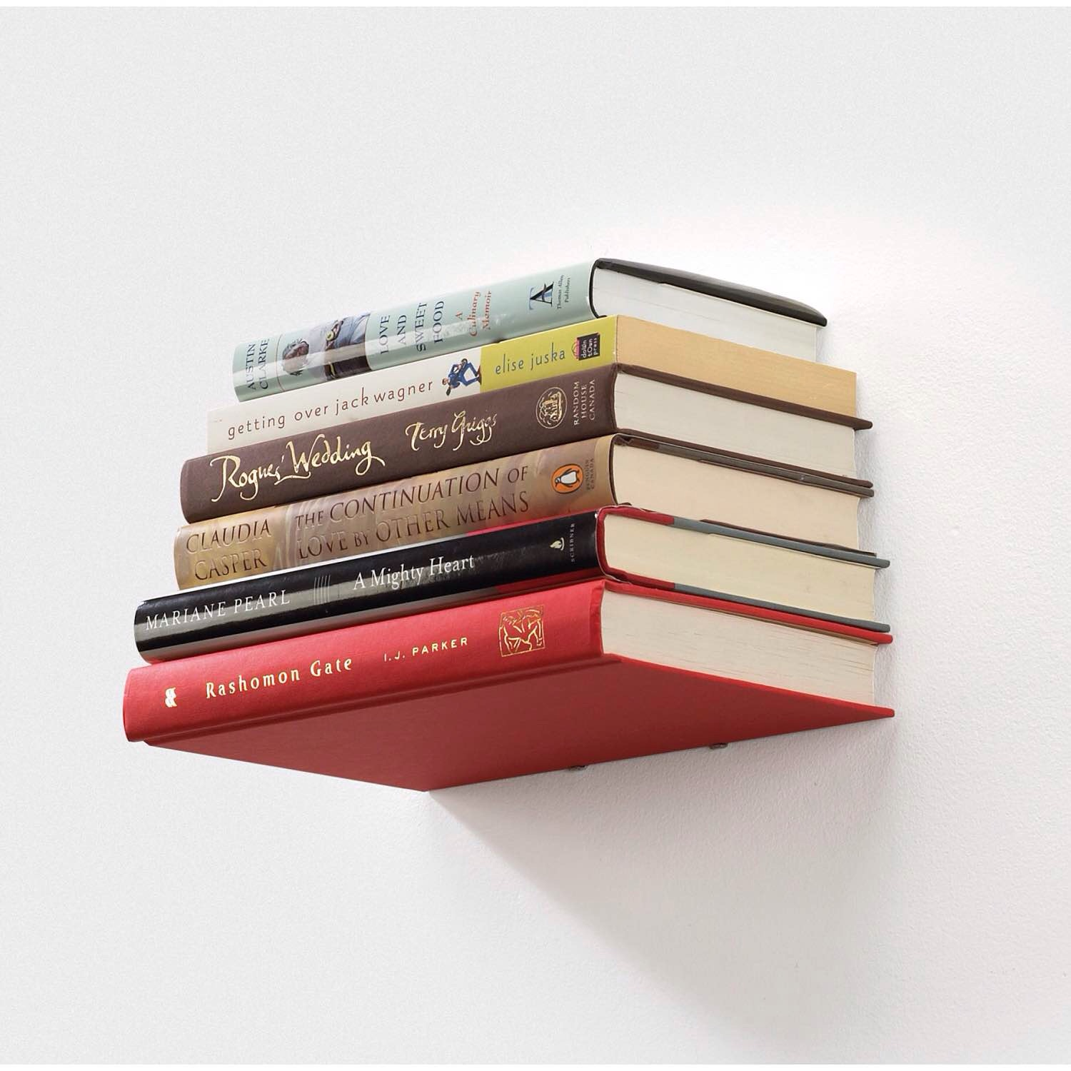 "Umbra ""Conceal"" floating bookshelf. ($15)"