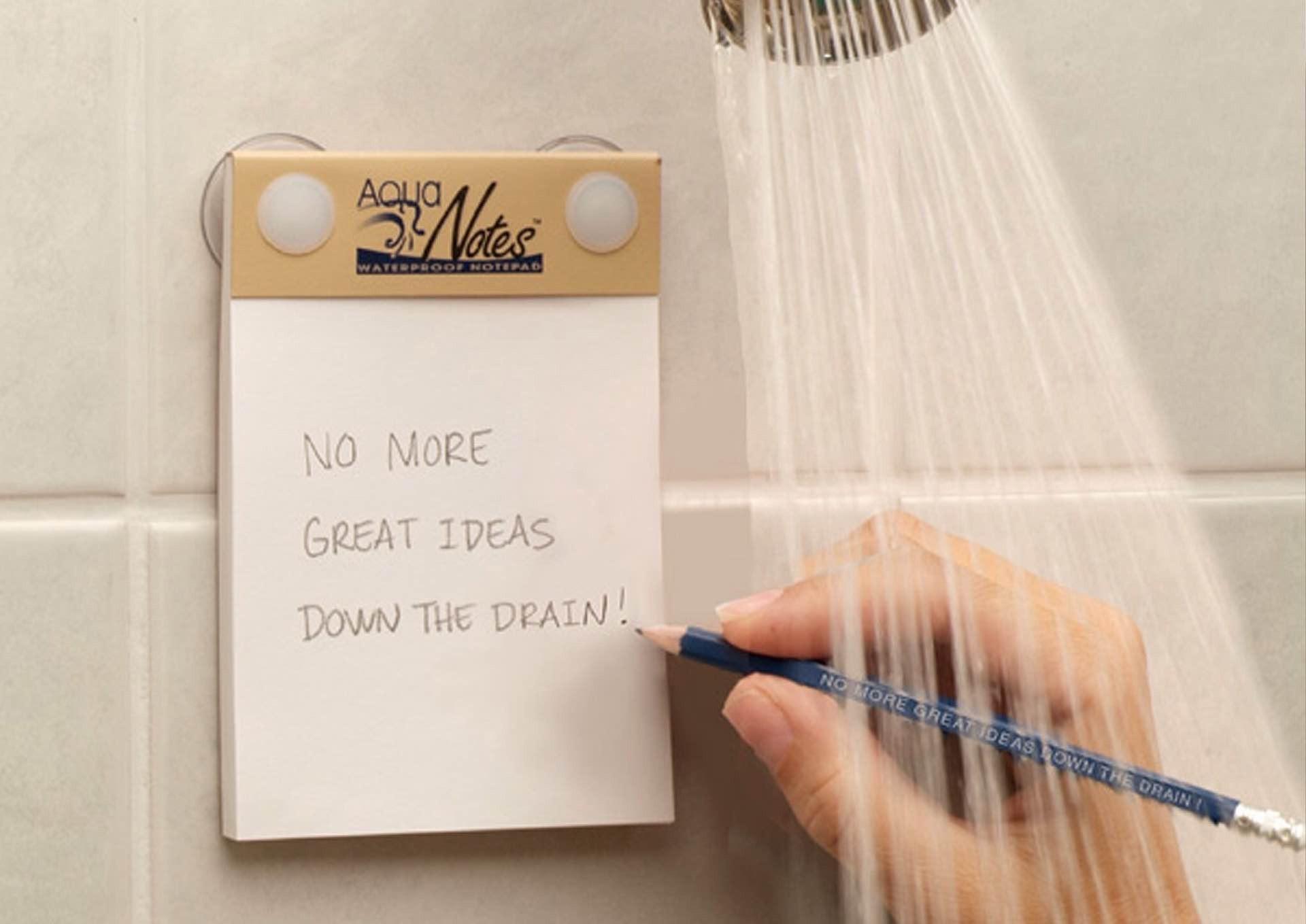 AquaNotes waterproof notepad. ($8)