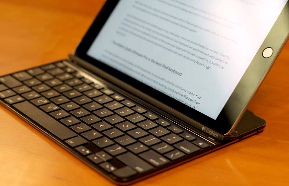 Logitech's Ultrathin Magnetic Clip-On Keyboard Cover. ($75)