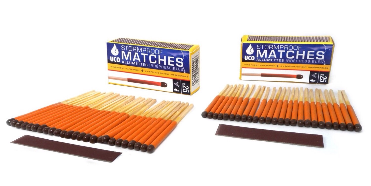 UCO Stormproof matches. ($7 for 50-pack)