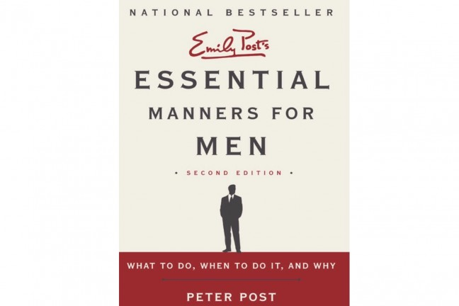 Essential Manners for Men by Peter Post.