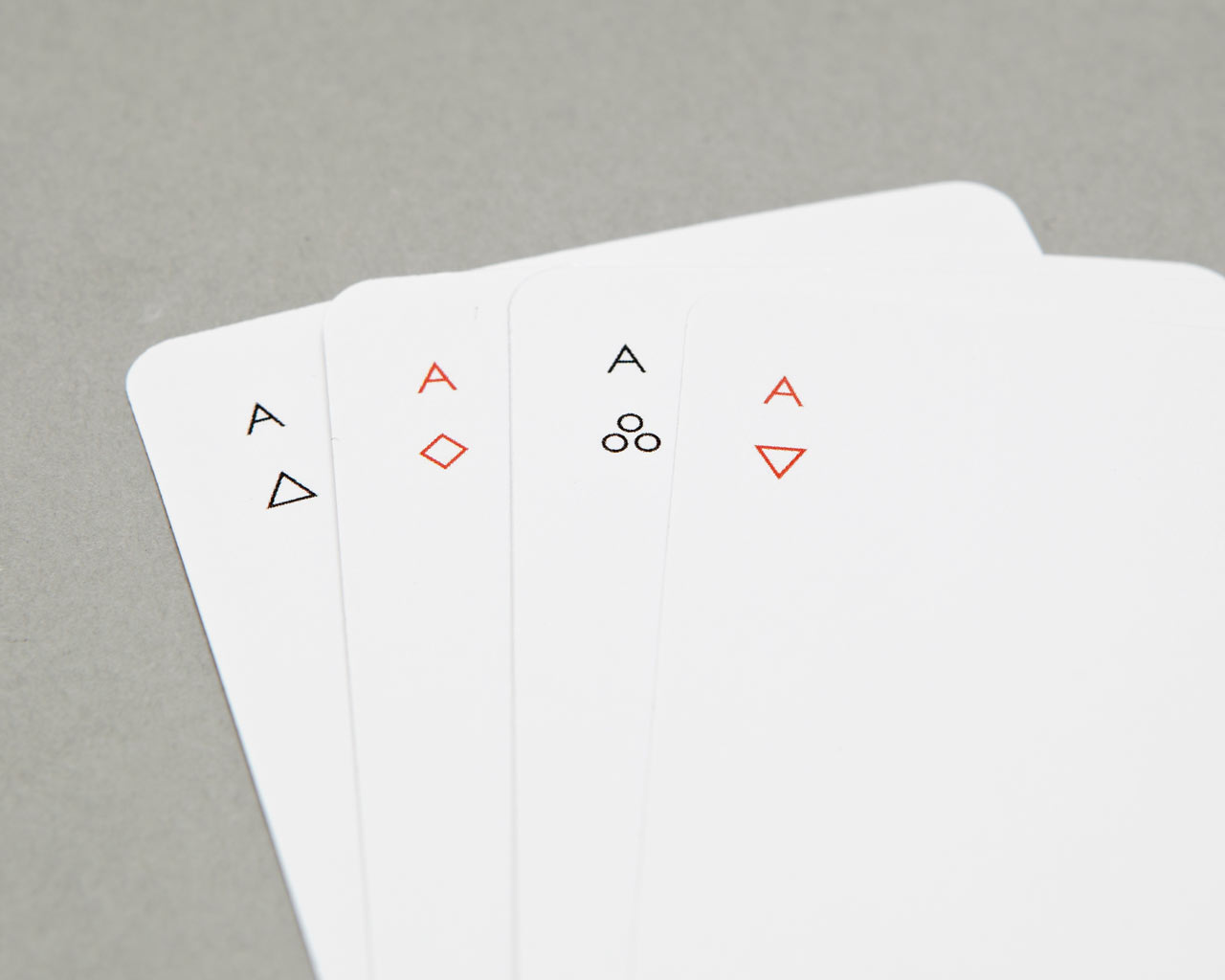 "Joe Doucet's ""Minim"" minimalist playing cards. ($10)"