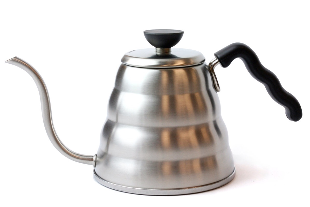The Hario Buono coffee drip kettle. ($36)