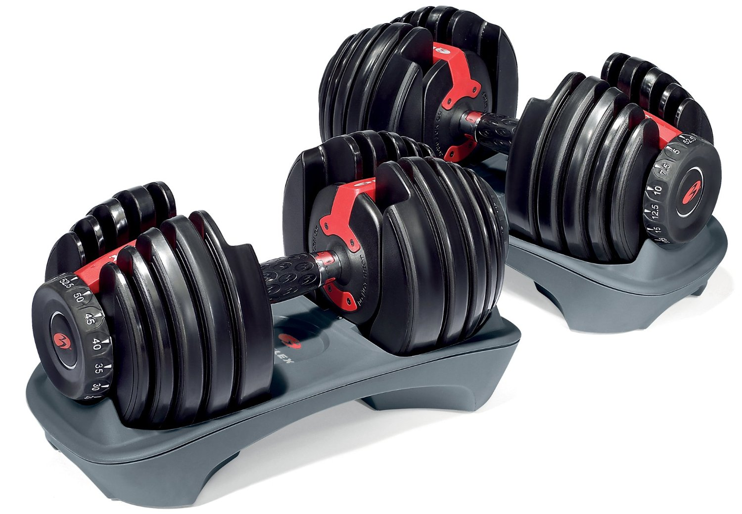 These [adjustable dumbbells](http://www.amazon.com/gp/product/B001ARYU58/ref=as_li_tl?ie=UTF8&camp=1789&creative=390957&creativeASIN=B001ARYU58&linkCode=as2&tag=toolsandtoys-20&linkId=KYSS2NNC2PFVIIZ4) are on a huge sale right now.