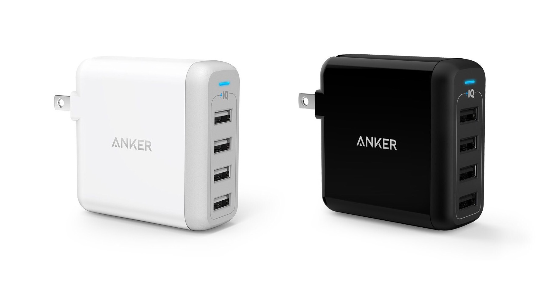 The Anker PowerPort 4 40W 4-port USB wall charger. ($26; available in white and black)