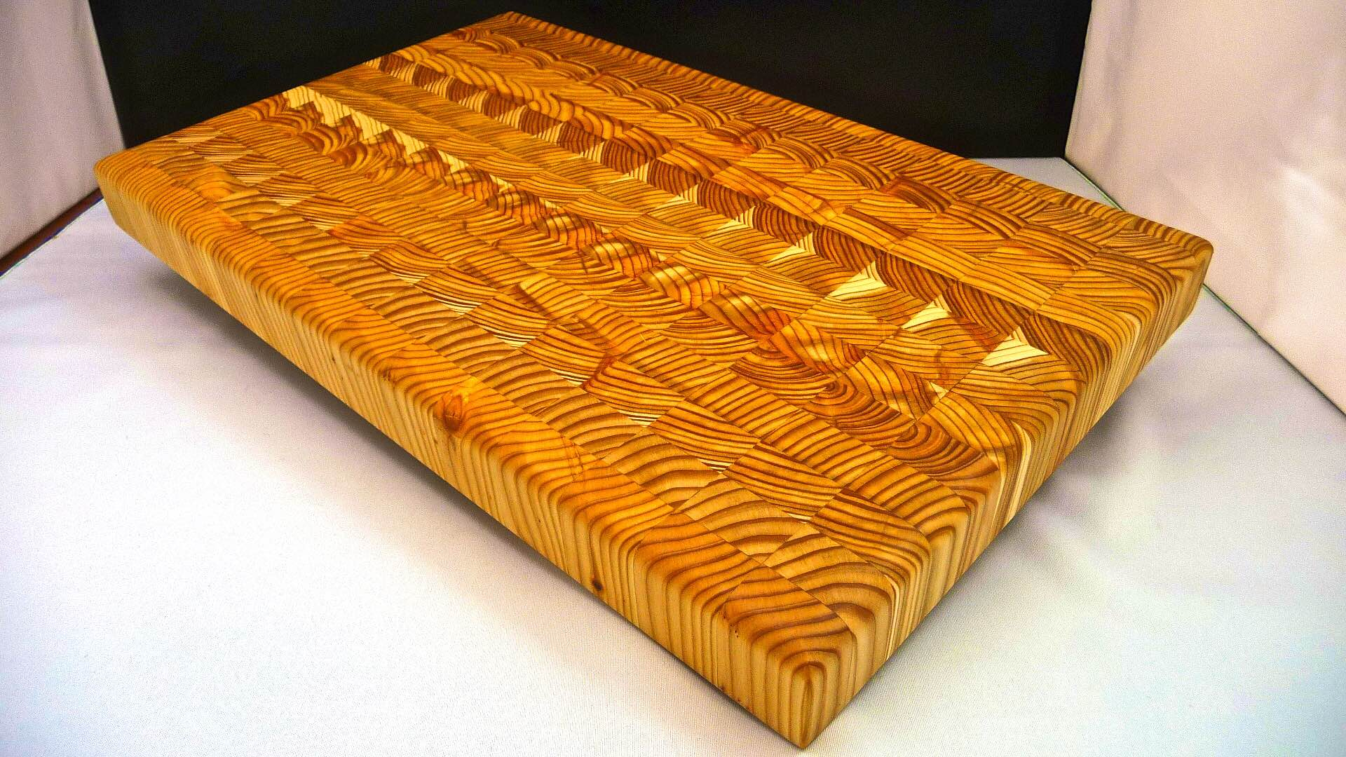 Larch Wood's end-grain cutting board. ($140–$320, depending on size)