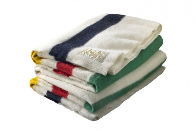"Hudson's Bay Company's ""point"" blanket. ($352–$550, depending on size)"