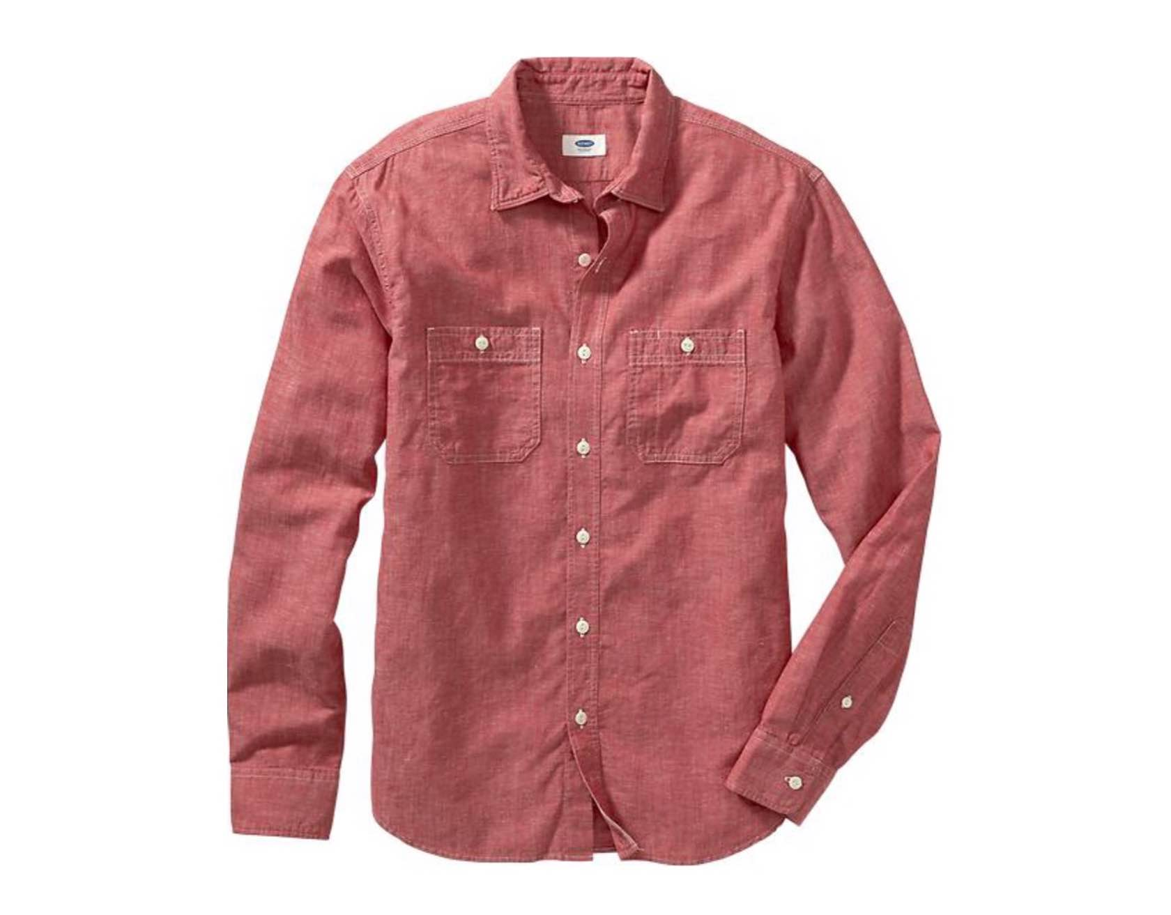 Old Navy's slim-fit chambray shirt. ($35)
