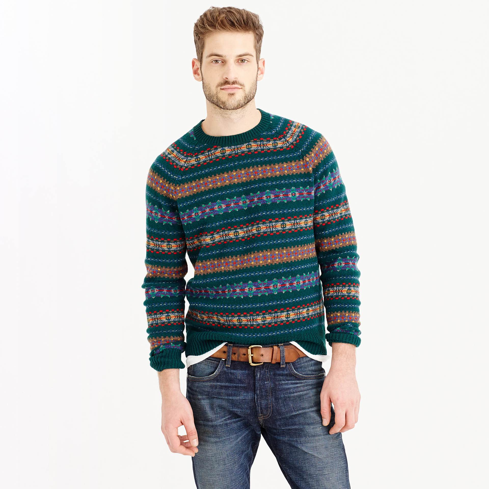 J.Crew's forest fair isle sweater ($80)