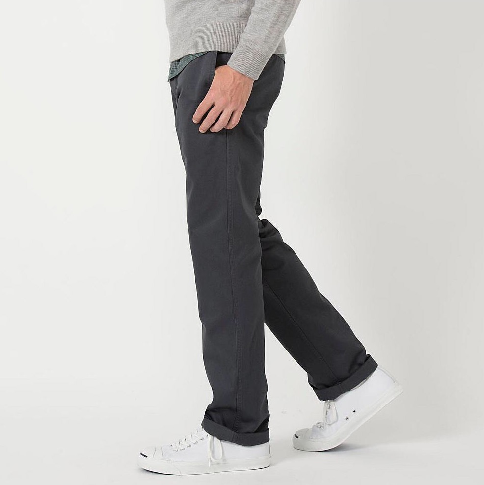 UNIQLO's flat-front chinos. ($40)