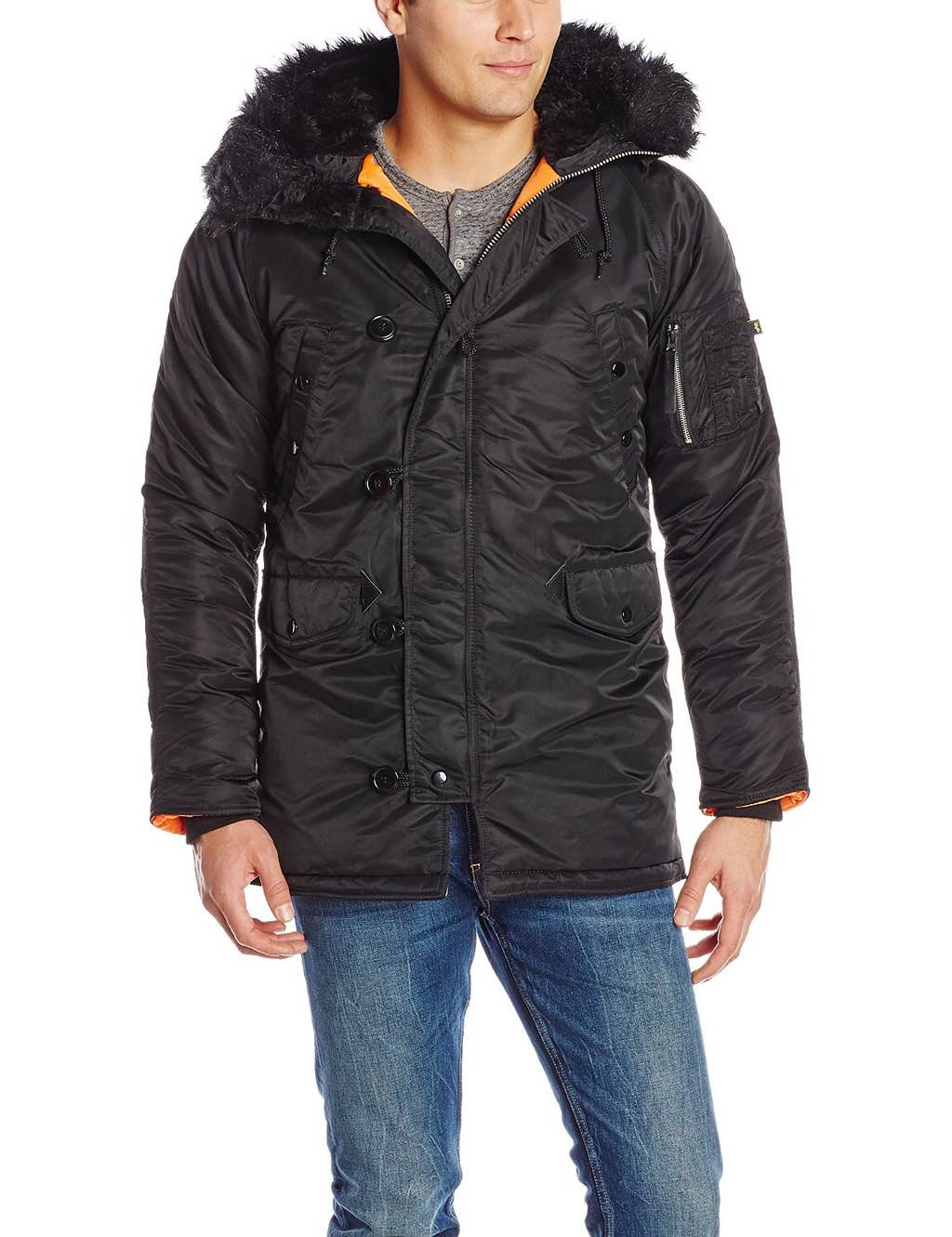 Alpha Industries' N-3B slim-fit parka. ($121–$200)