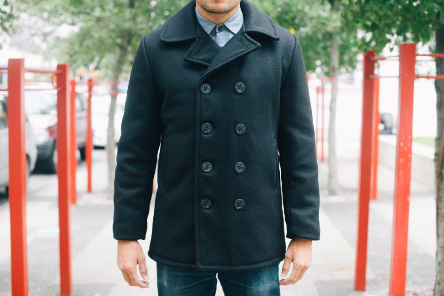 Schott's classic 32oz. wool pea coat. ($280–$350)