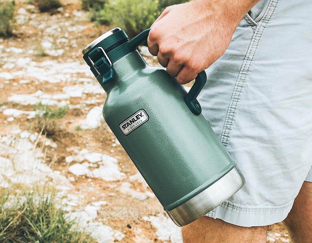 Stanley Classic 64 oz. vacuum-insulated growler. ($40 for green, $38 for navy)