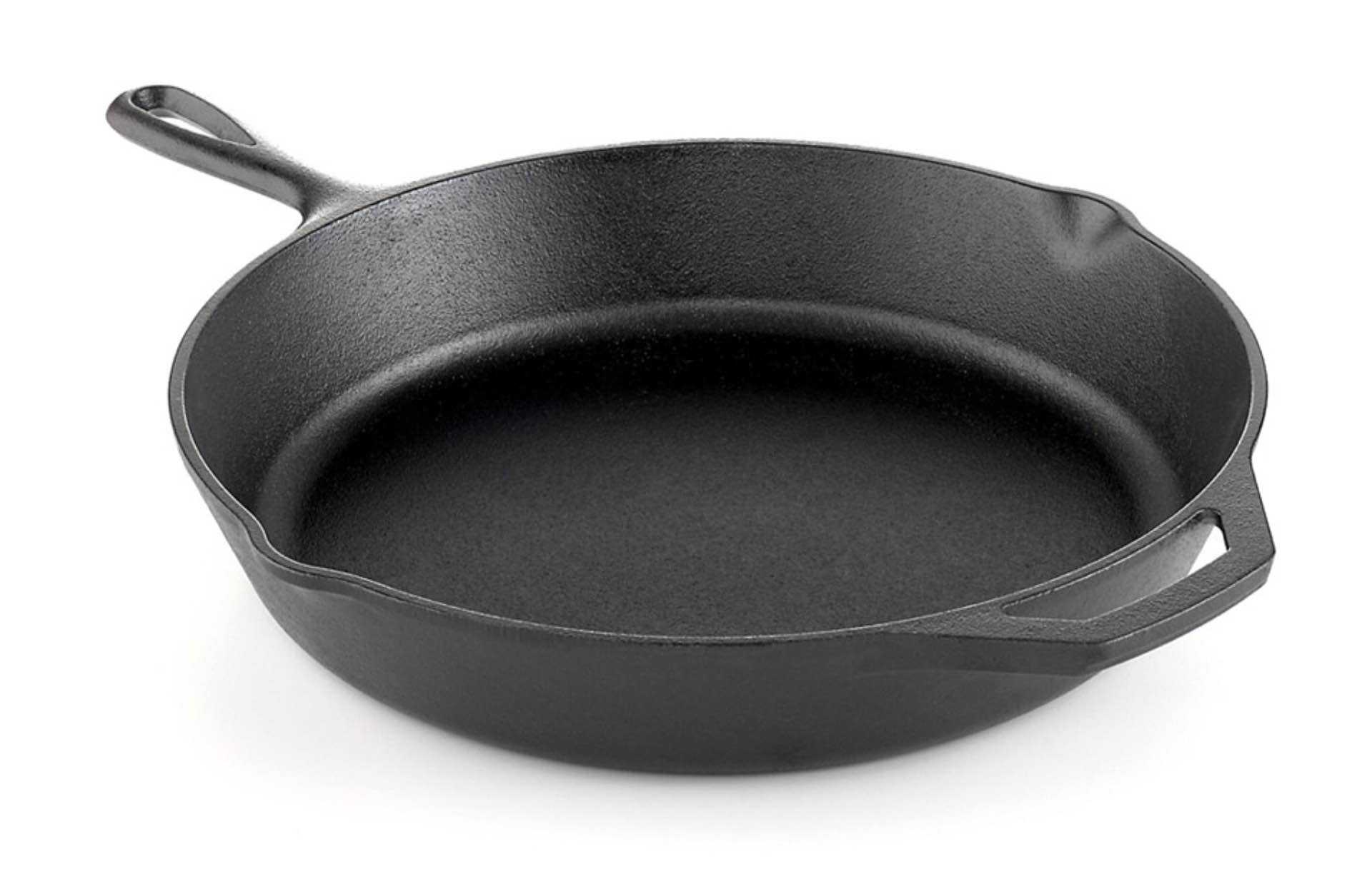 "Lodge's 12"" pre-seasoned cast iron skillet. ($32)"