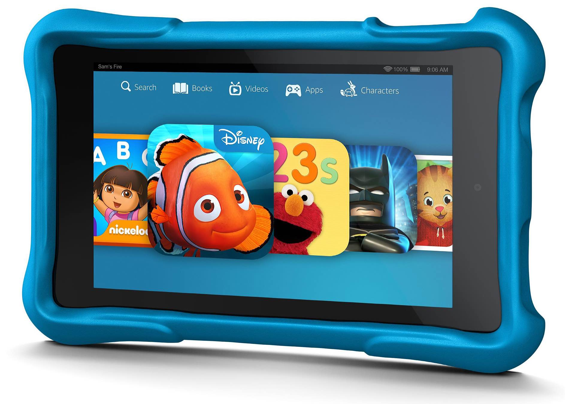 Amazon's kids edition Kindle Fire tablet. ($100 for 16GB version; comes in blue, green, and pink)