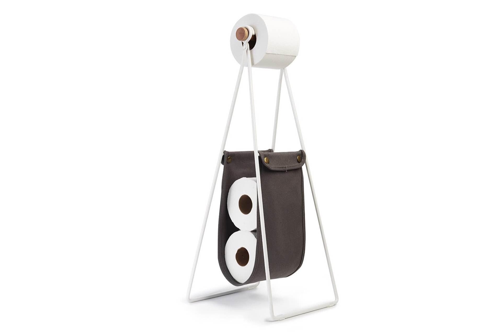 "Umbra's ""Slinger"" toilet paper stand + reserve. ($25)"