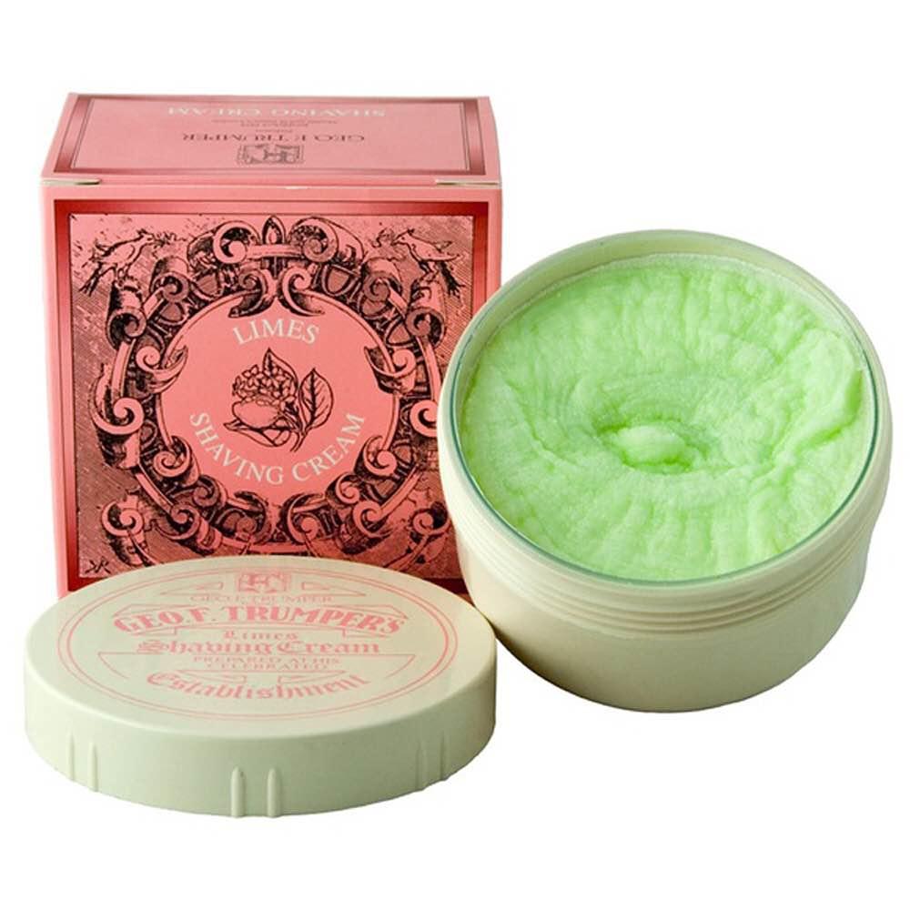 Geo F. Trumper's Limes Shaving Cream jar. ($19)