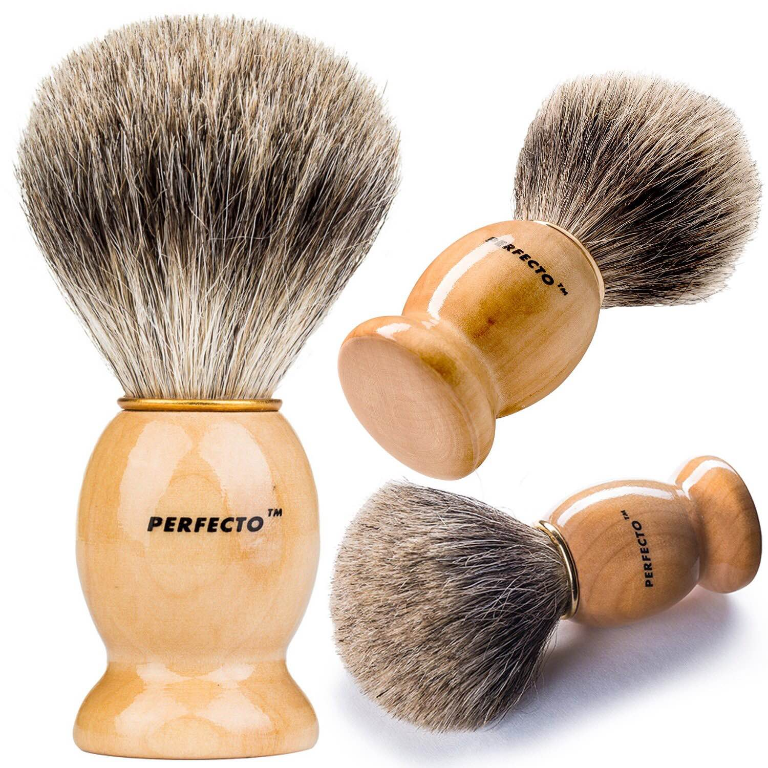 Perfecto's badger shave brush. ($13)