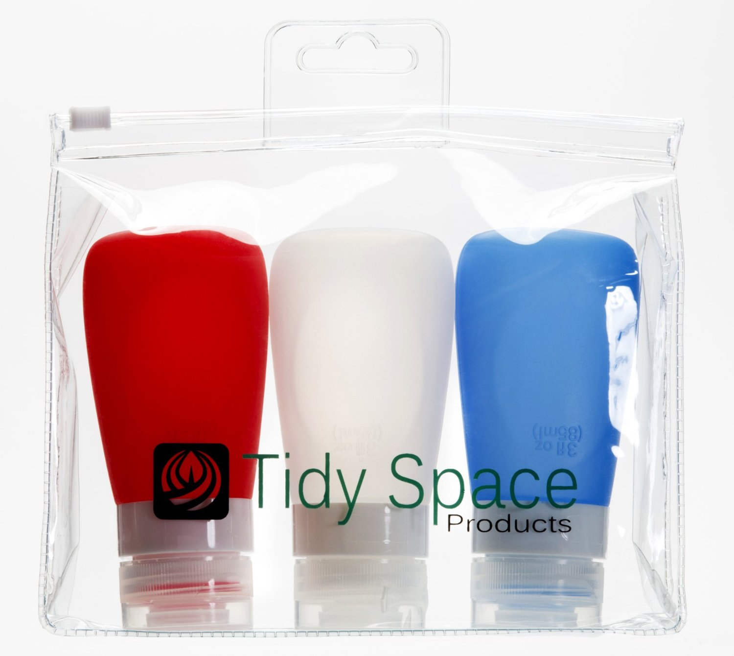 Tidy Space's 3 oz. air travel bottles. ($18 for pack of 3)