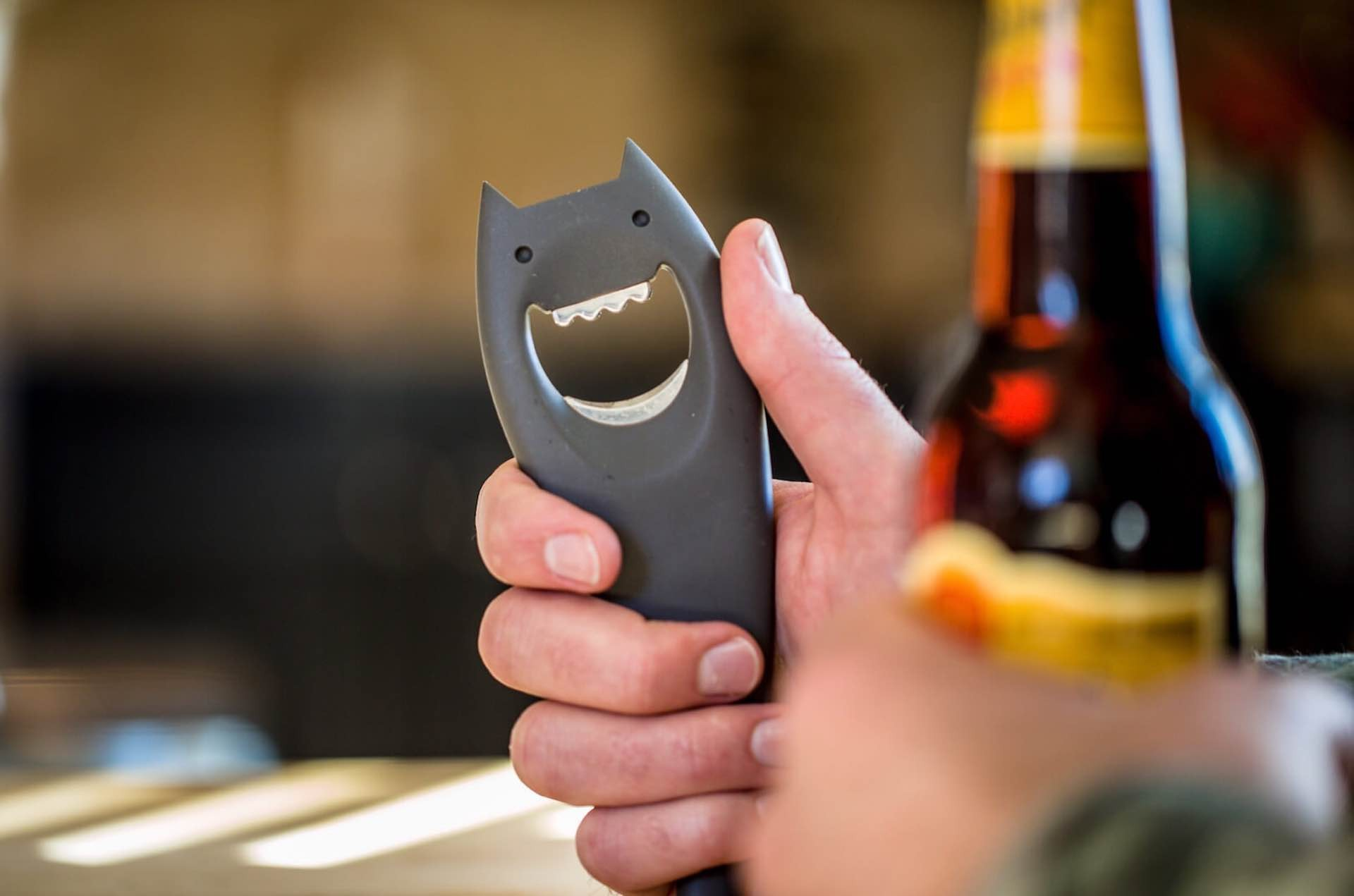 The Diabolix bottle opener by Alessi. ($19, available in six colors)