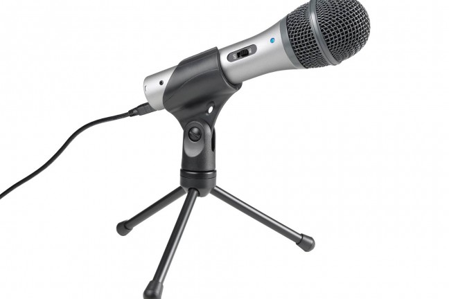 Audio-Technica's ATR2100-USB mic. ($59)