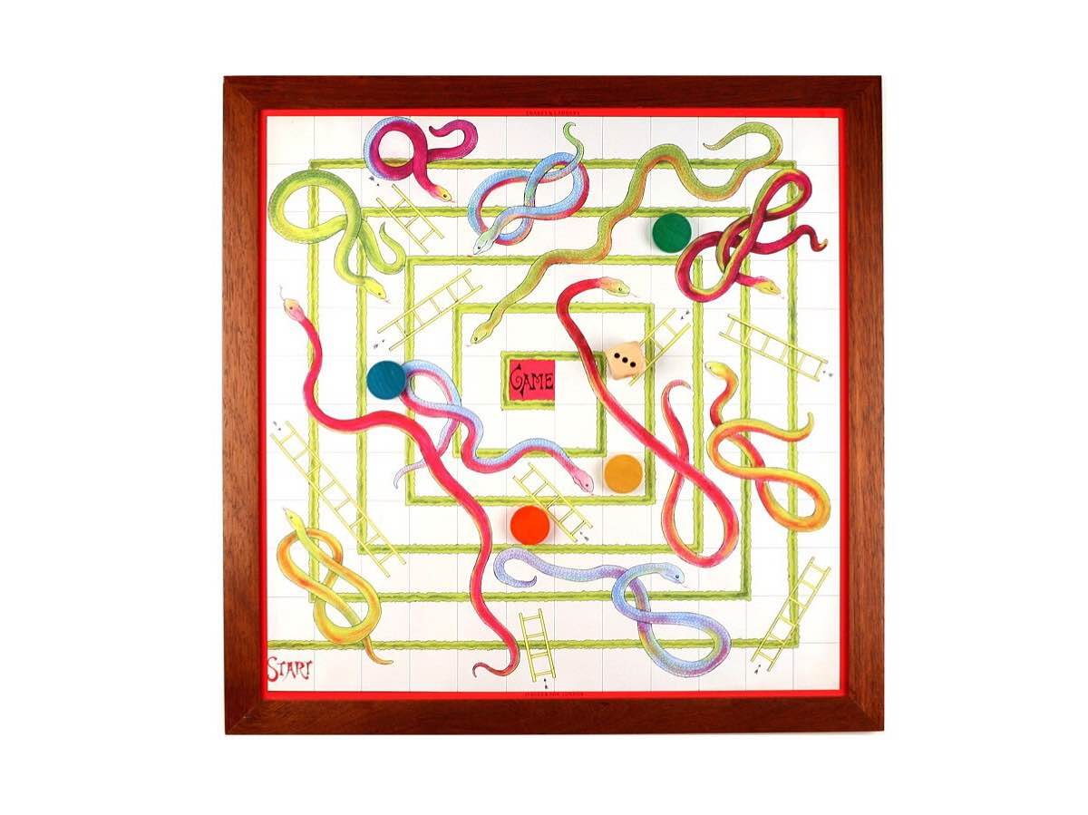 "Luxury 23"" Snakes and Ladders by Jacques. ($70)"