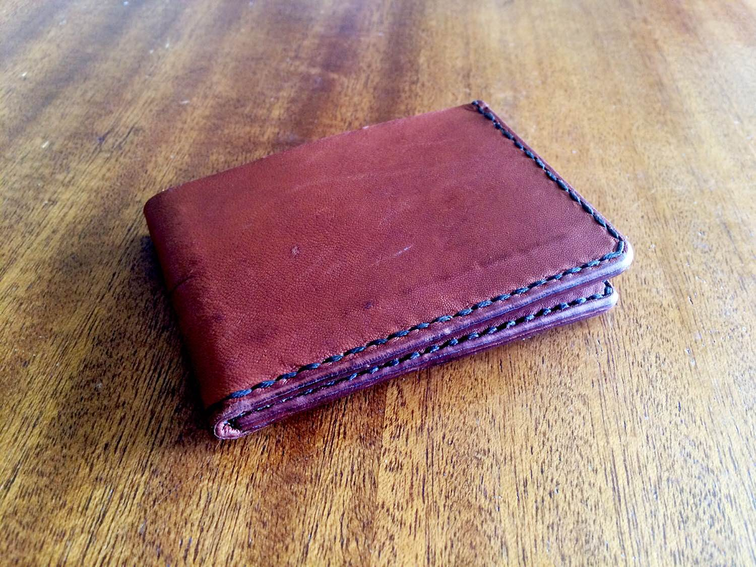 Kangaroo leather wallets by Rose Leather Crafting. (Prices vary)