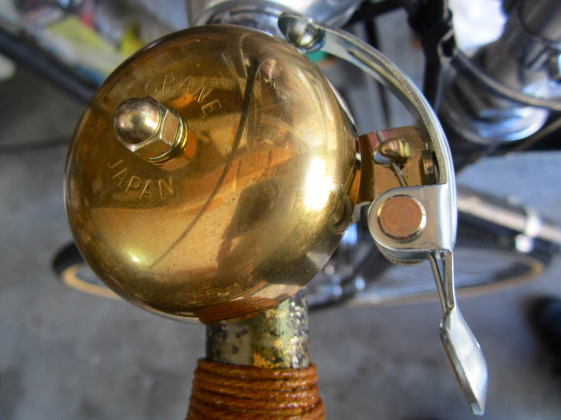 Crane's Suzu lever-strike bicycle bell. ($12)Photo: A New Recyclist