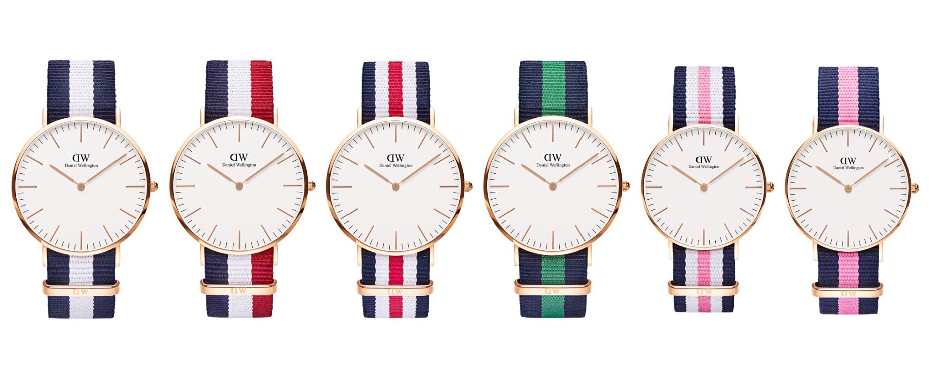 "The Daniel Wellington ""Classic Collection"" NATO-strap watch. ($175 for [36mm](https://www.danielwellington.com/us/classic-36), $195 for [40mm](https://www.danielwellington.com/us/classic-40))"