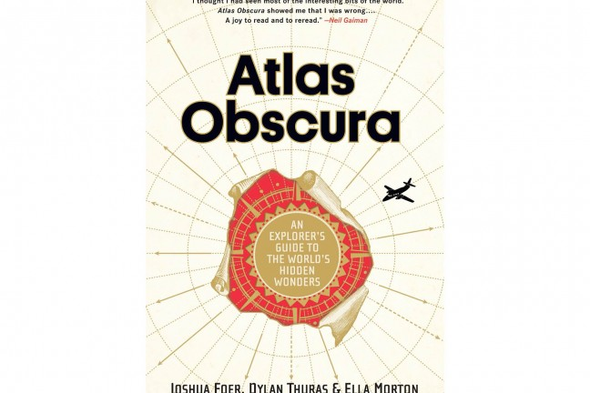 The Atlas Obscura book by Joshua Foer, Dylan Thuras, and Ella Morton.