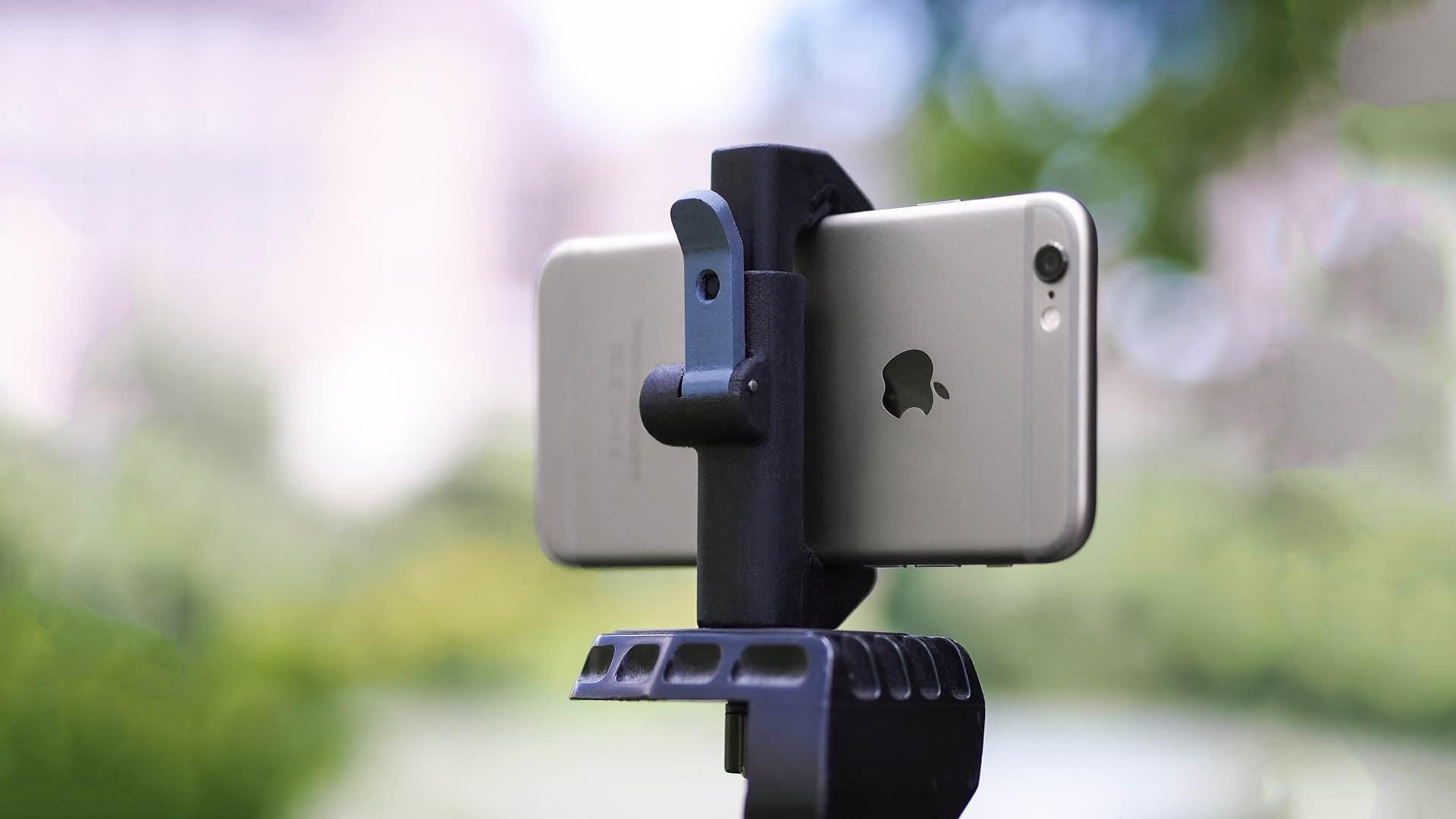 "Studio Neat ""Glif"" quick-release tripod mount for smartphones. ($28)"