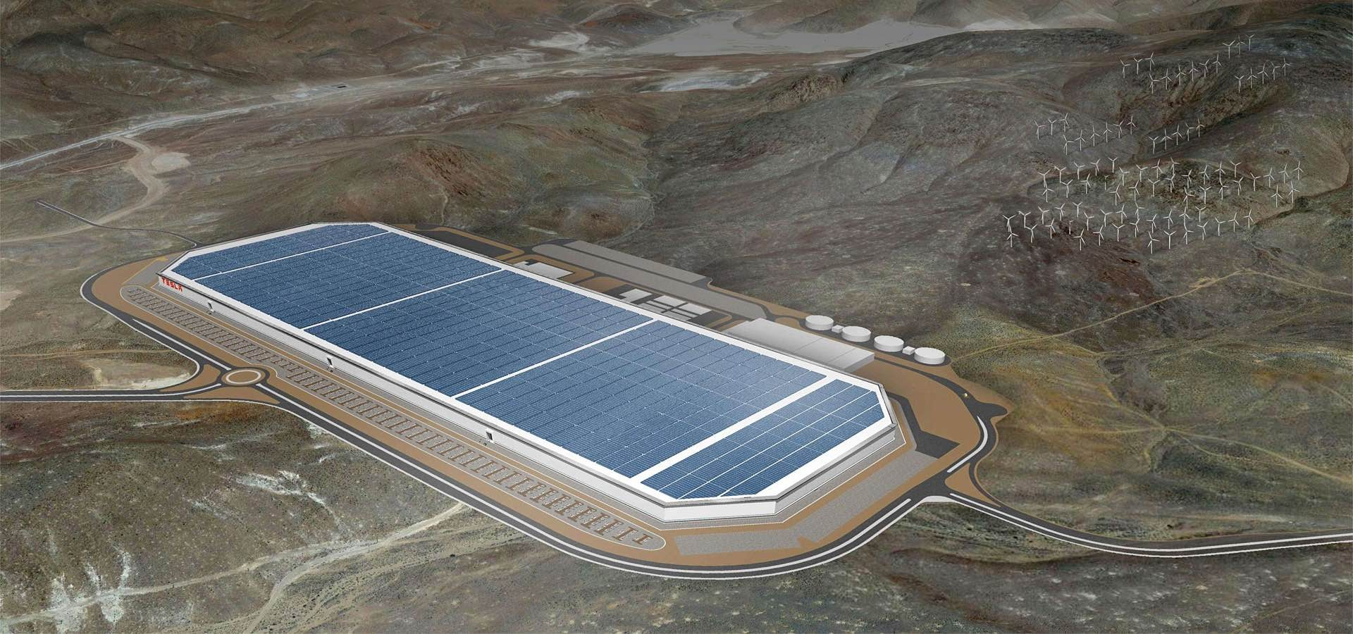 Tesla's soon-to-be-operational [Gigafactory.](https://www.tesla.com/gigafactory) More photos of its construction [were published](http://jalopnik.com/inside-the-tesla-gigafactory-the-biggest-factory-in-th-1784369456) at *Jalopnik* yesterday.