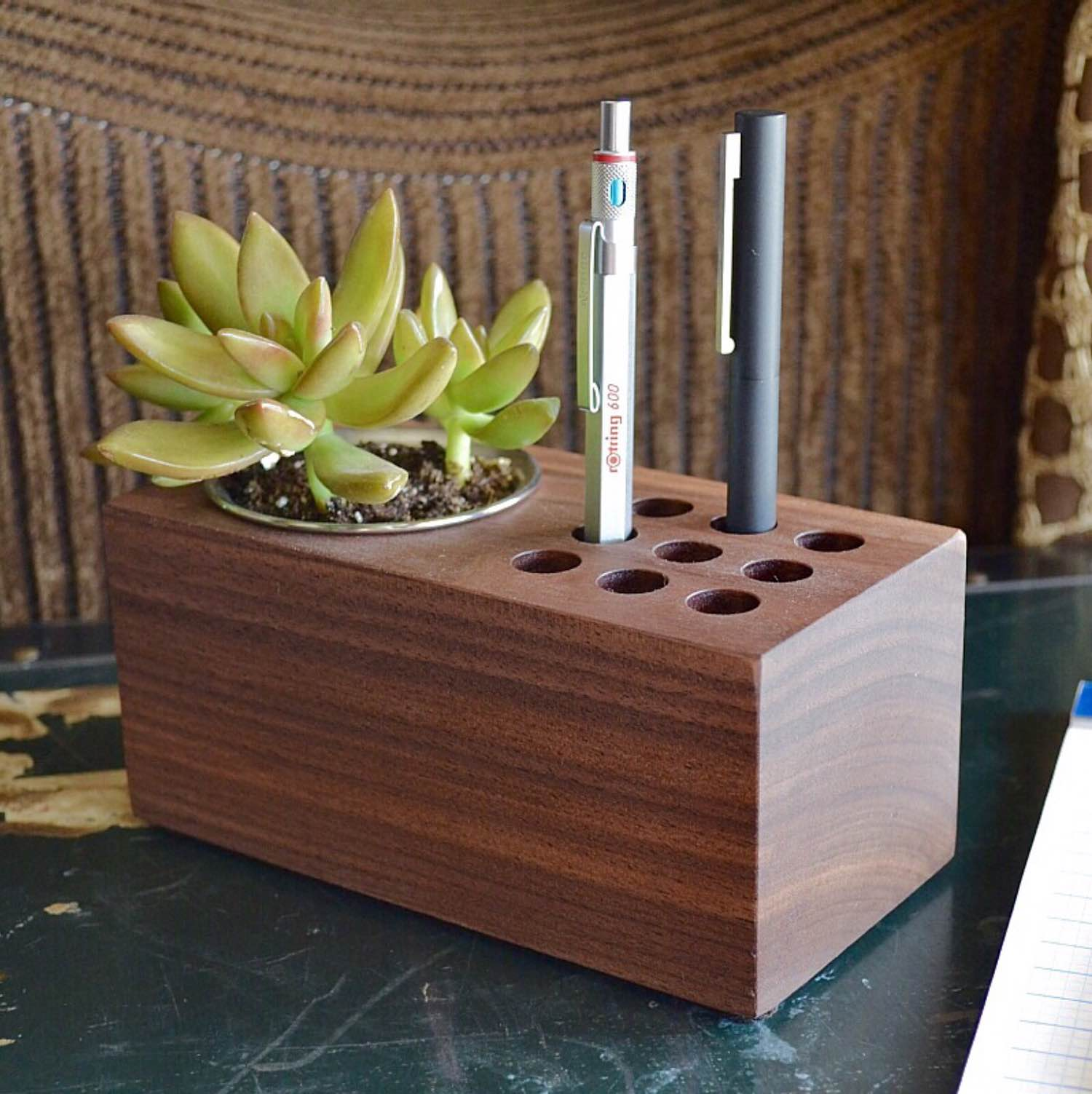 """The Planter"" pen holder by Mike Dudek. ($59)"