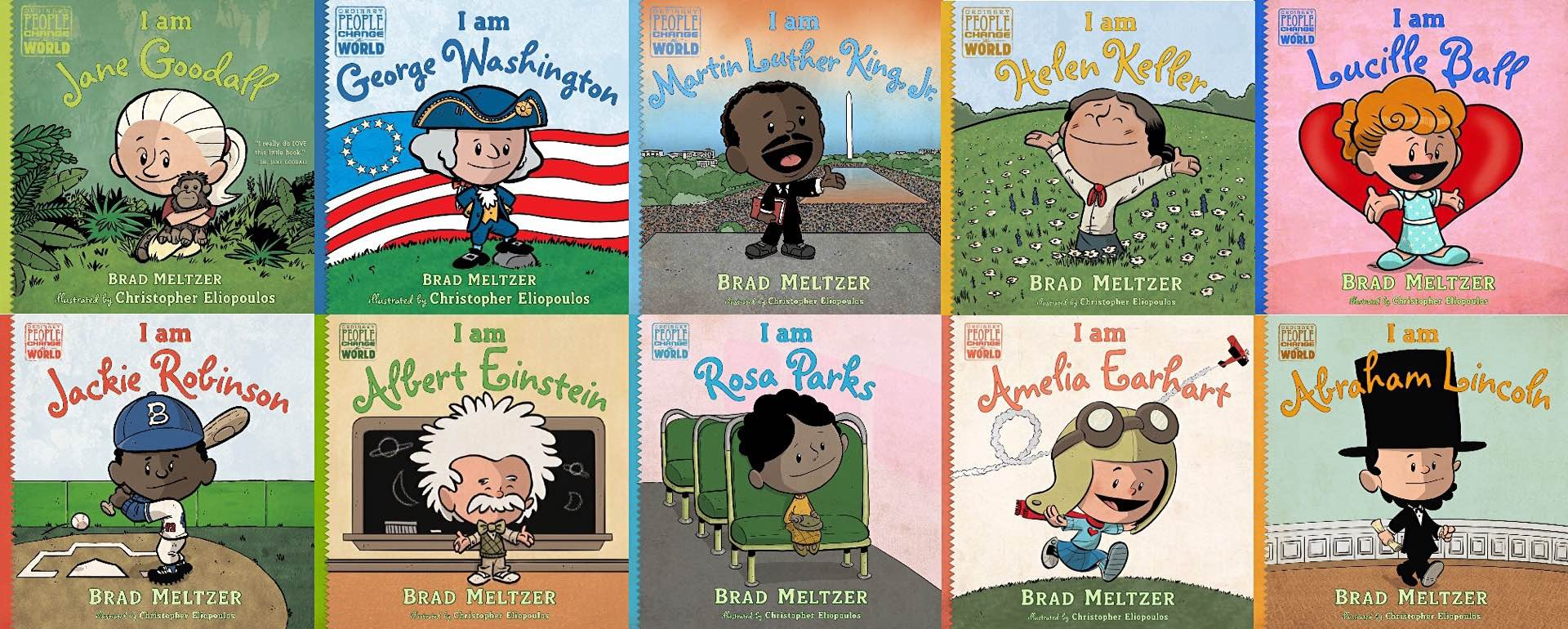 "Brad Meltzer's ""Ordinary People Change the World"" children's books. (Prices vary)"
