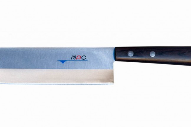 "The Japanese-made 6.5"" vegetable cleaver by MAC Knife. ($80)"