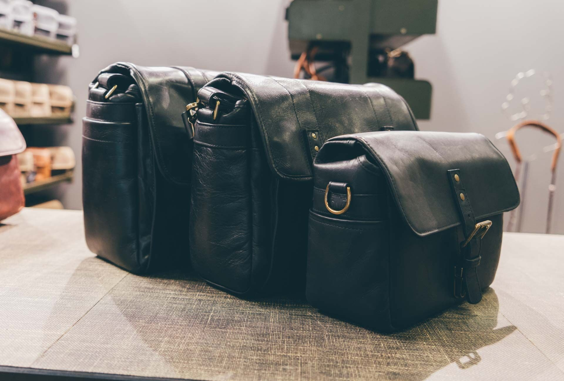 Now all of the classic messenger bags from ONA come in black leather, too.