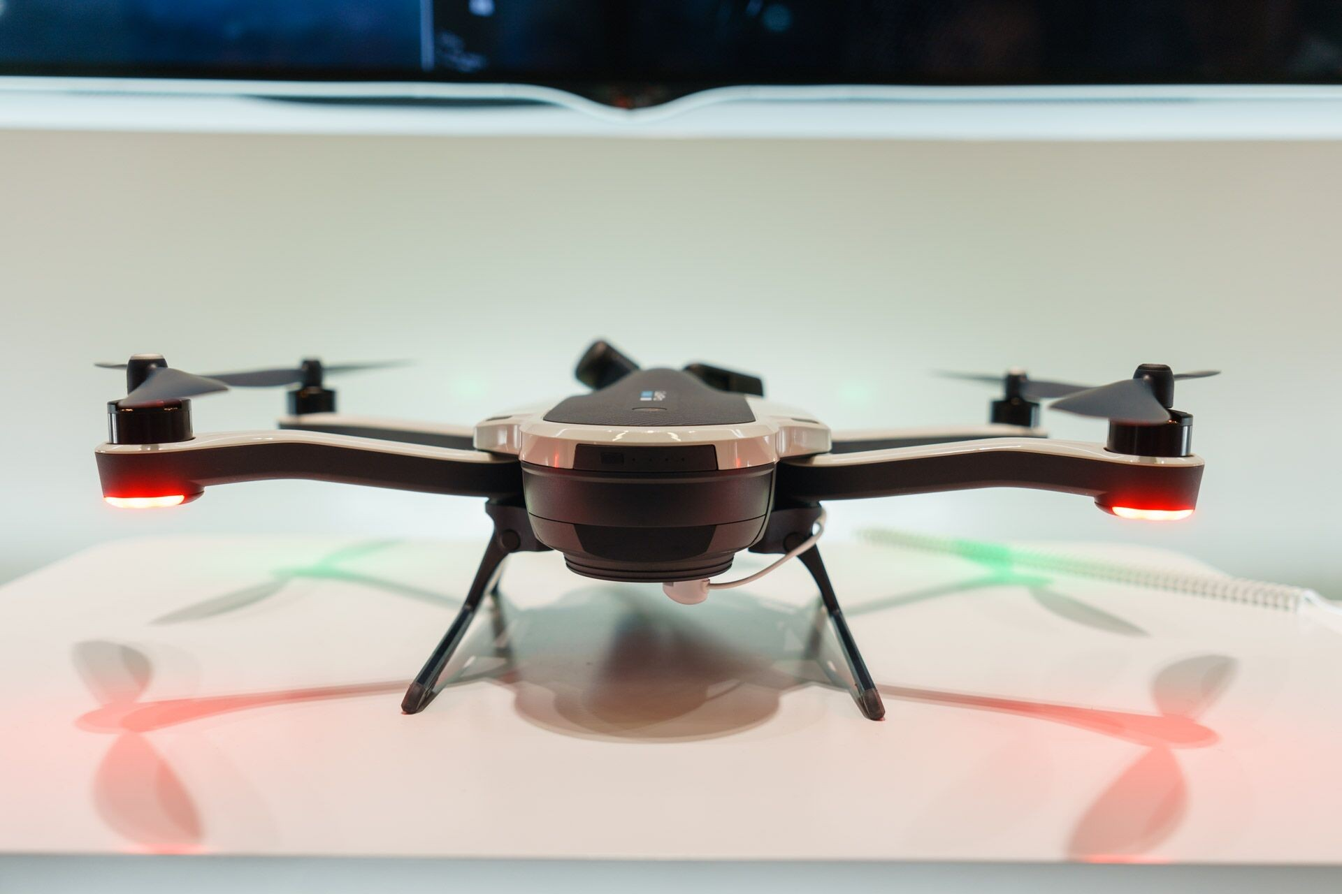 The [Karma](https://shop.gopro.com/karma) is a sleek-looking drone that packs the latest technology from GoPro.
