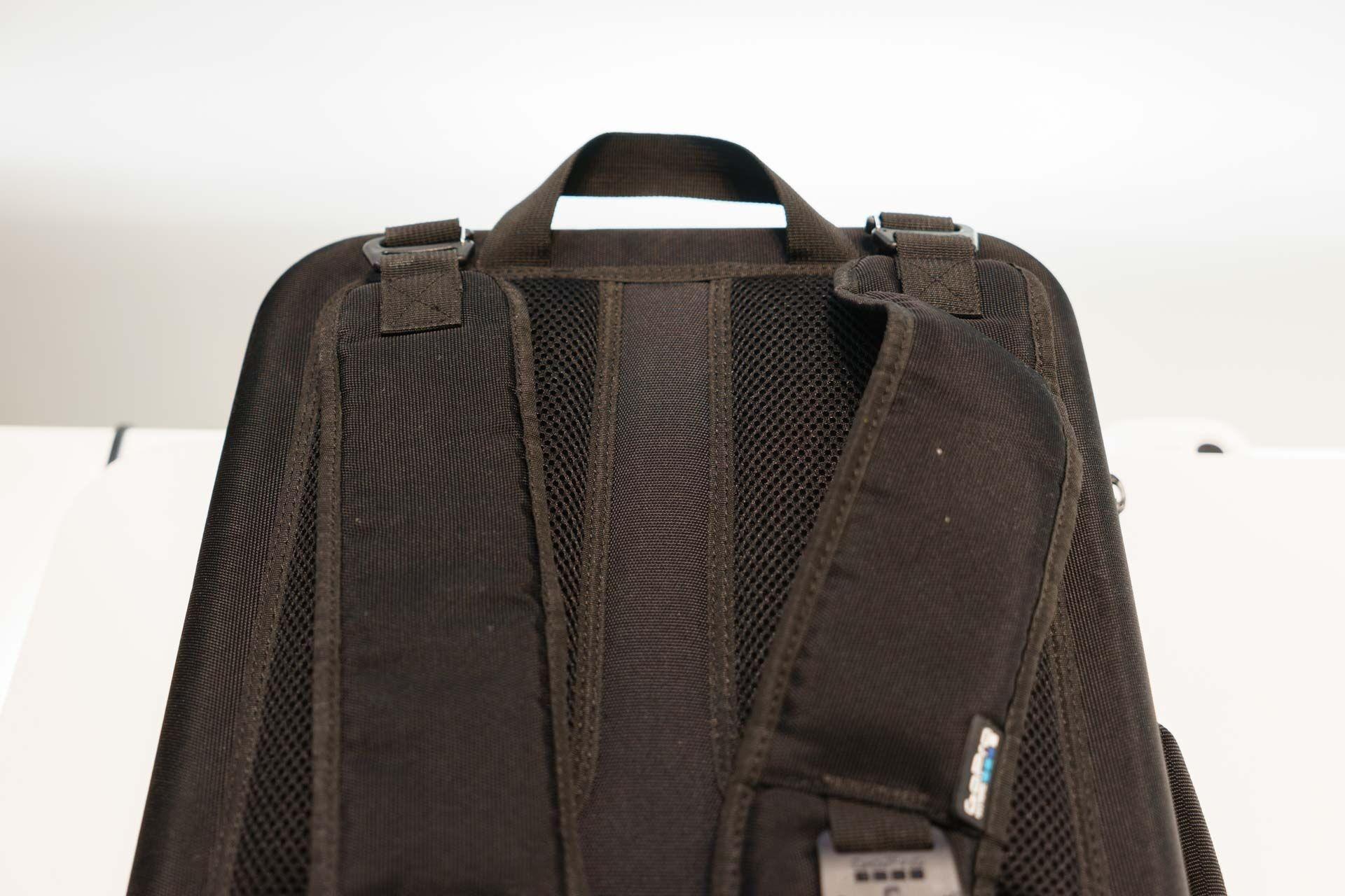 The Karma's arms and feet fold in on themselves, and the entire bundle fits nicely in the included padded case, which can be worn as a backpack.