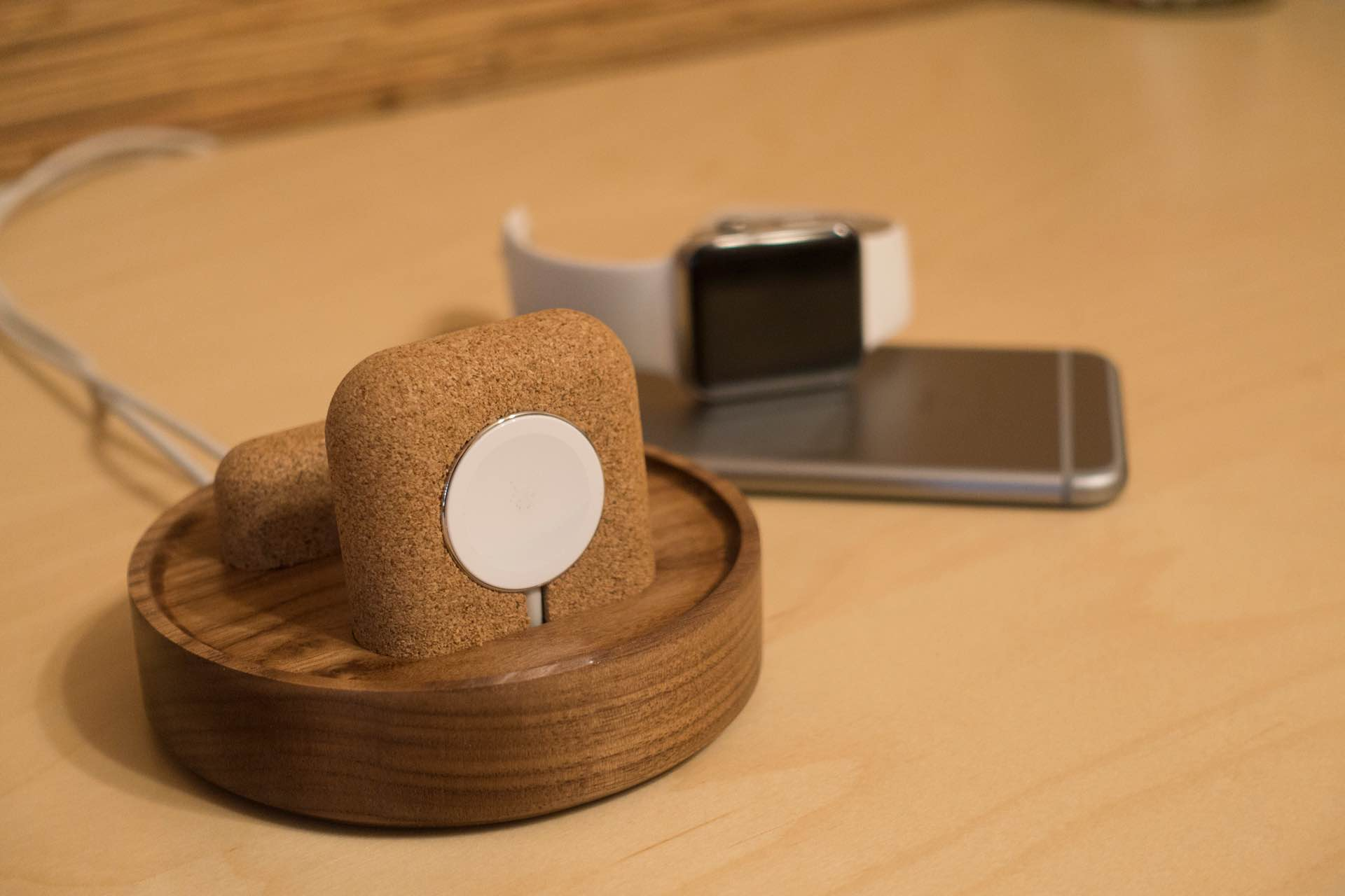 Studio Neat's Material Dock for iPhone and Apple Watch. ($45 or $70, depending on model)