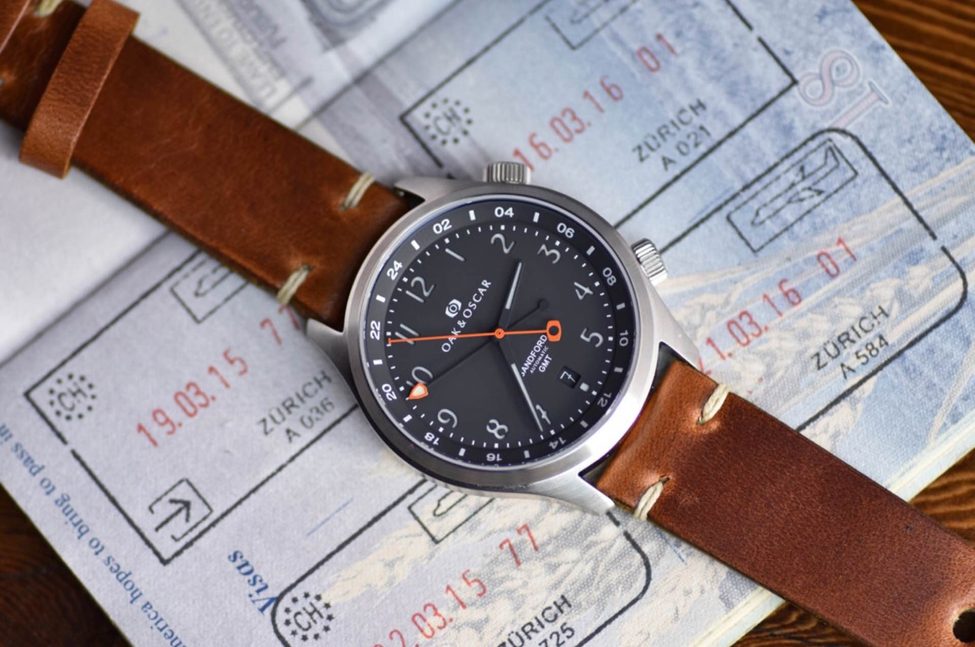 The upcoming Sandford watch by Oak & Oscar. ($1,850; expected to ship in Fall 2016)