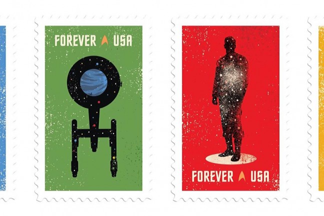 Star Trek 50th anniversary US postage stamps. ($10 for a set of 20)