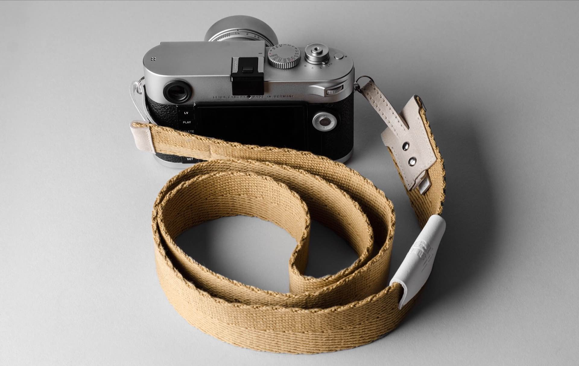 "Hard Graft's ""Blend"" camera strap. ($135)"