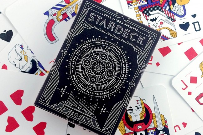 """STARDECK"" sci-fi playing cards. ($15)"